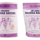 organic sultana raisins